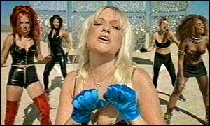 image: [ Baby Spice and the rest of the gang, Ginger, Posh, Sporty and Scary ]
