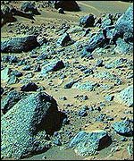 [ image: Some of the rocks that the rover Sojourner analysed   NASA/JPL/Caltech]