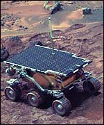 [ image: The little roving vehicle named 'Sojourner' that gathered information on soil and rocks   NASA/JPL/Caltech]