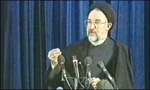 image: [ Mr Khatami praised many positive aspects of the West ]