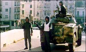 Algeria violence, street riots,