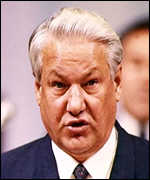 [ image: Boris Yeltsin: highlighted the spying role of the secret police]