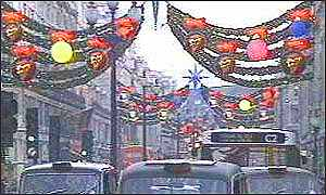 image: [ The West End stage brought yuletide imagination to Regent Street in 1994 ]