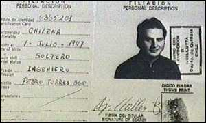 image: [ Ramirez's passport shows his origins ]