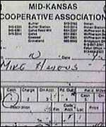 [ image: Vital clue: This receipt linked Nichols to the purchase of fertiliser used in explosives]
