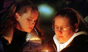 image: [ Remembering JonBenet - a candlelight vigil held in Boulder, Colorado ]
