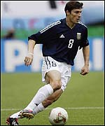 Argentina star player, Javier Zanetti