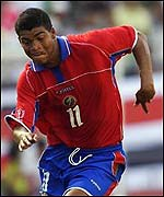 Costa Rica star player, Ronald Gomez