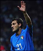 Italy star player, Christian Vieri