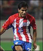 Paraguay star player, Nelson Cuevas