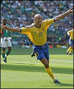 Sweden star player, Henrik Larsson