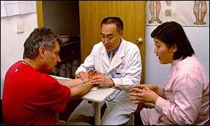 Consultorio médico en China